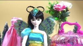 芭比娃娃过家家之叶罗丽娃娃编发 帮孔雀仙子扎发公主图片