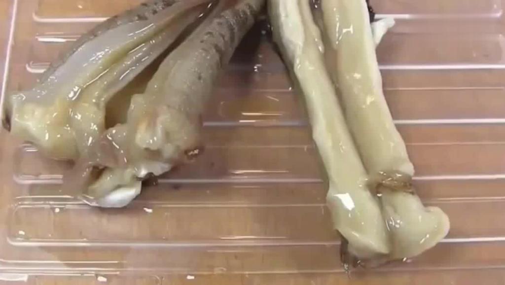 象拔蚌美食制作全过程,肉肉的肯定十分好吃呢!