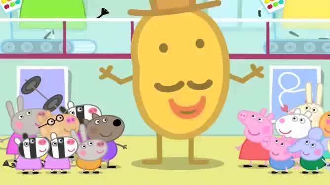 小猪佩奇 佩奇和她的朋友们在幼儿园为土豆先生画画