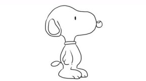 可爱的小狗史努比幼儿亲子简笔画 宝宝轻松学画画