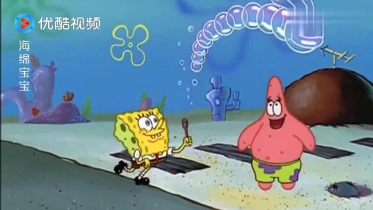 海绵宝宝: 海绵宝宝教派大星吹泡泡,竟然吹出来一个大象泡泡!