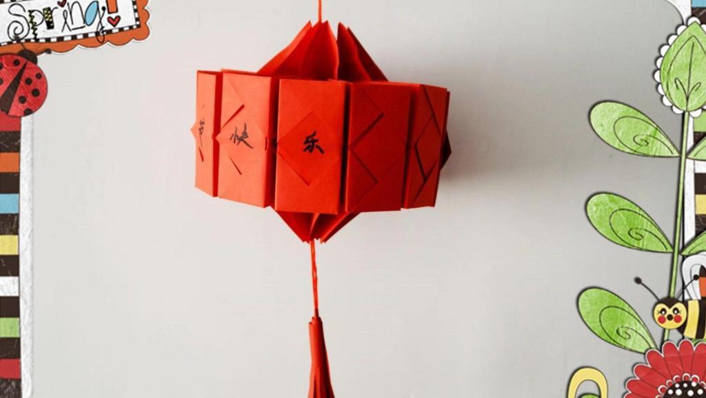 维纳斯灯笼折纸步骤图