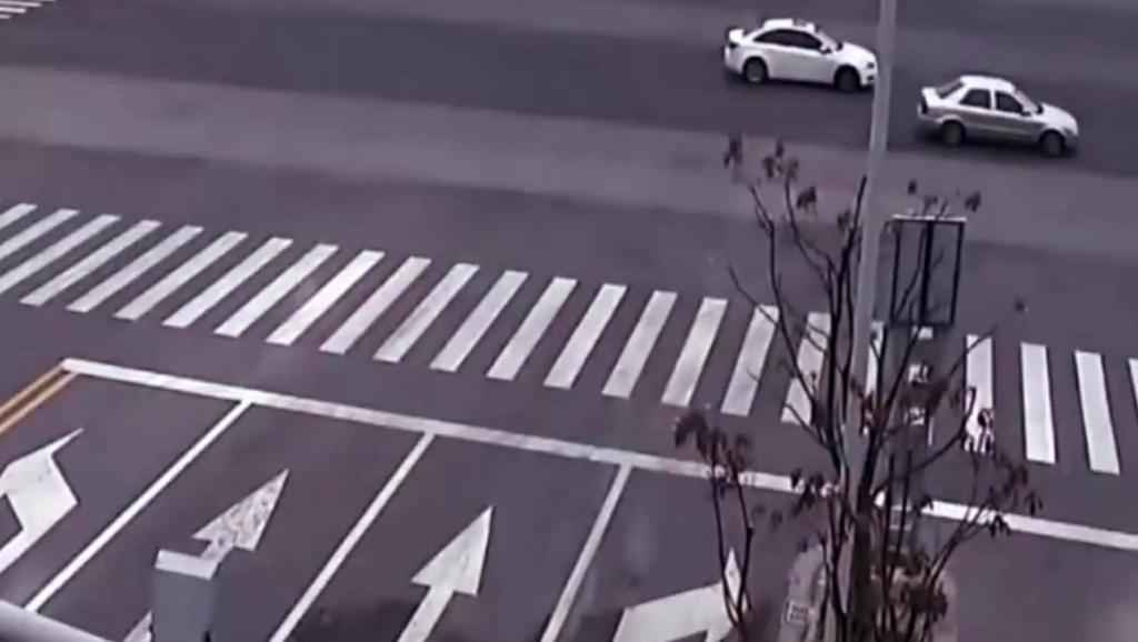 电动车闯红灯被撞飞后,死神连一点挣扎的机会都不给