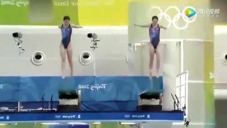 跳水女皇吴敏霞、郭晶晶同台比赛唯美瞬间,怀念!多希望再次同台!