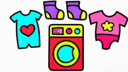 幼儿美术启蒙简笔画之洗衣机和小衣服的画法, 学前儿童早教课程!图片