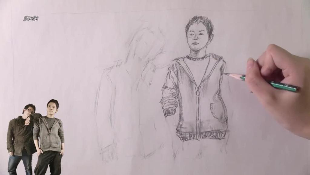 美术素描作品_动漫铅笔画技法