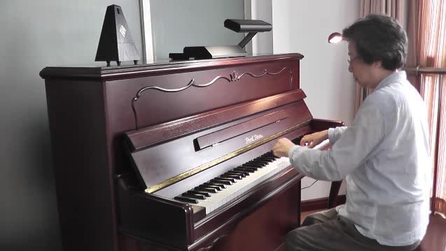北风吹钢琴曲演奏