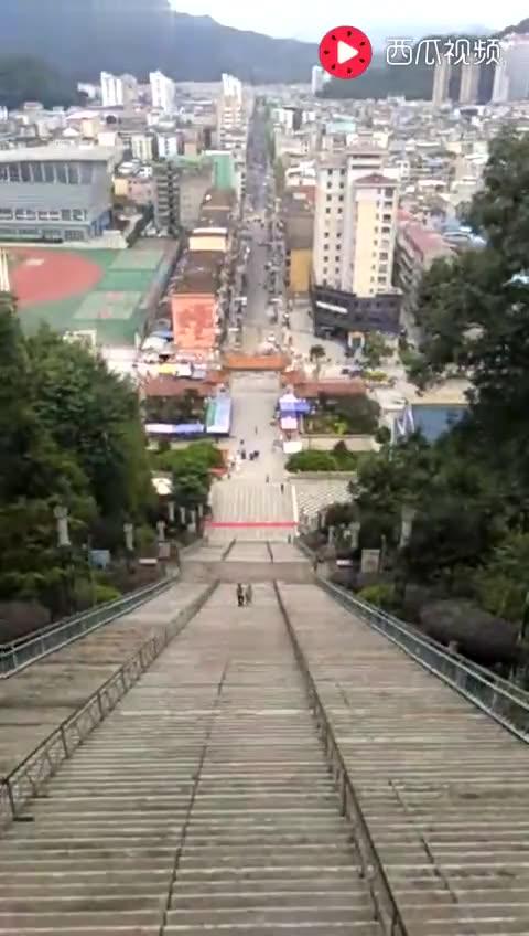 福建大田白岩山361步台阶。