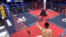 英国拳手赛前叫嚣,扬言KO杨茁,却被杨茁两记重拳爆头