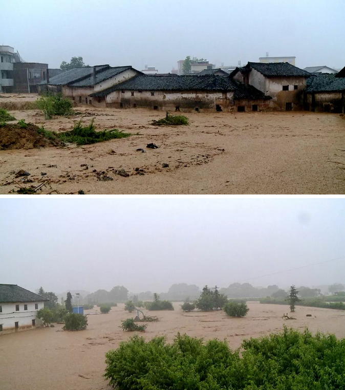 广东上坪发生洪涝灾害: 2万人受灾, 道路受阻通讯中断