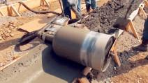 轮子过一遍混凝土就平了,省了不少人工