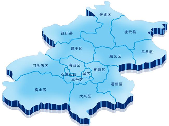 简单手绘北京市地图