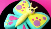 把蛋糕做成工艺品,可爱的蝴蝶翻糖蛋糕