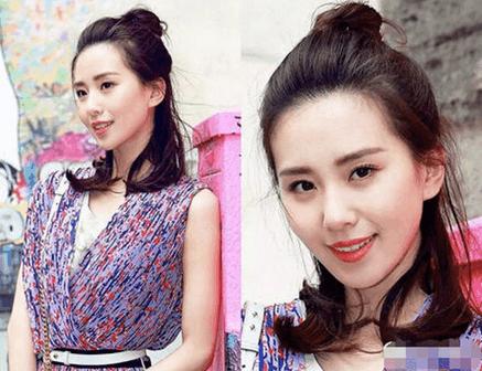 女星都爱丸子头,刘诗诗美到18岁,迪丽热巴俏皮可爱,她却成了时尚圈最