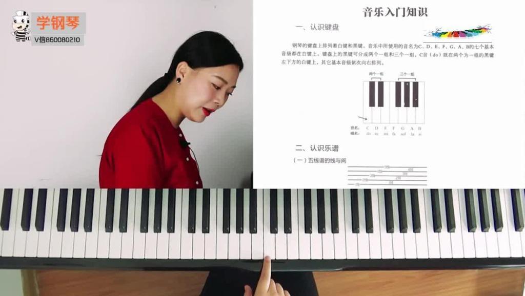 指法训练 打开 钢琴简谱钢琴视频钢琴弹唱钢琴教程拜厄卡农车尼尔怎