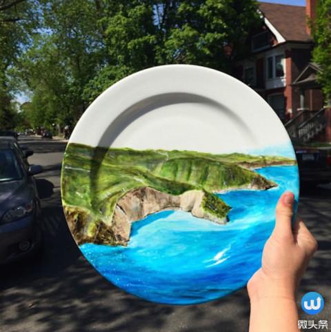她将全世界最美的风景画在菜盘子上! 却美得惊人!