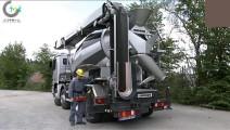 德国黑科技,搅拌机浇筑一体的工程机械,真的很牛