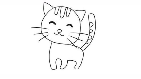 教宝宝画一只萌萌哒的小猫咪 打开 可爱小猫咪幼儿亲子简笔画 宝宝