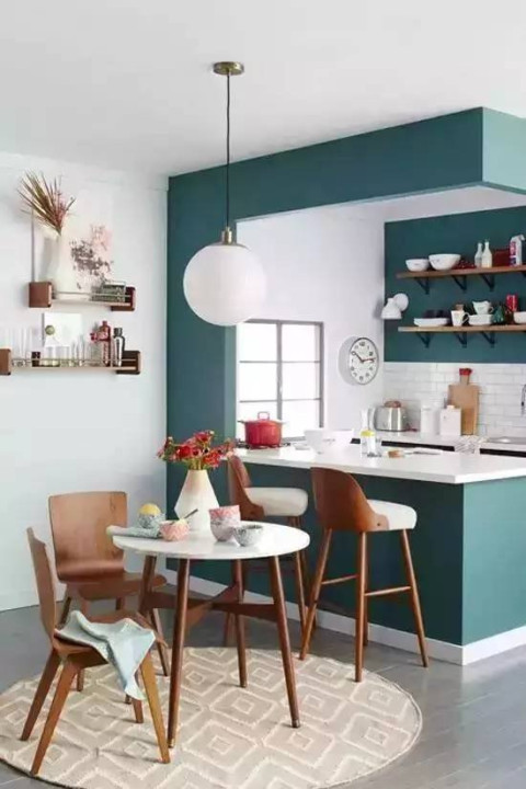 让人耳目一新的蓝绿色装修, 家居色彩搭配有大学问!