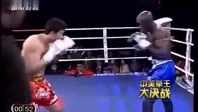 这才是中国爷们,用传统武术散打方式KO老黑!