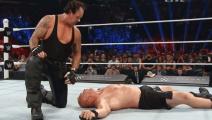 WWE 送葬者致命复仇莱斯纳报摔角狂热一箭之仇!太解气了!葬爷还能归来吗?