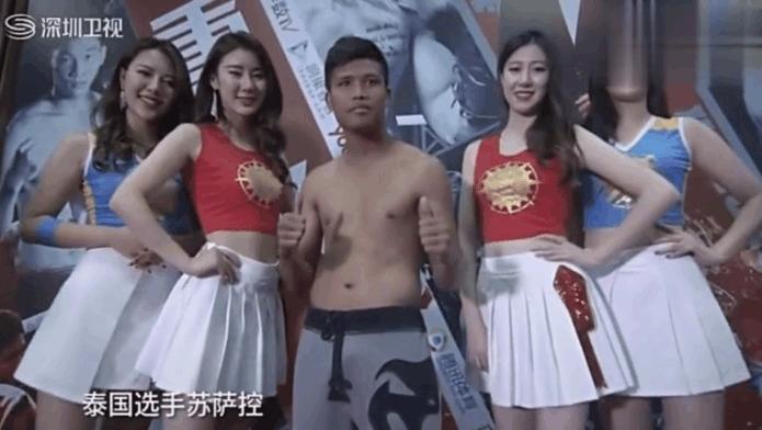 两次世界冠军泰拳王遭邱建良一脚KO 地上爬来爬去站不起来