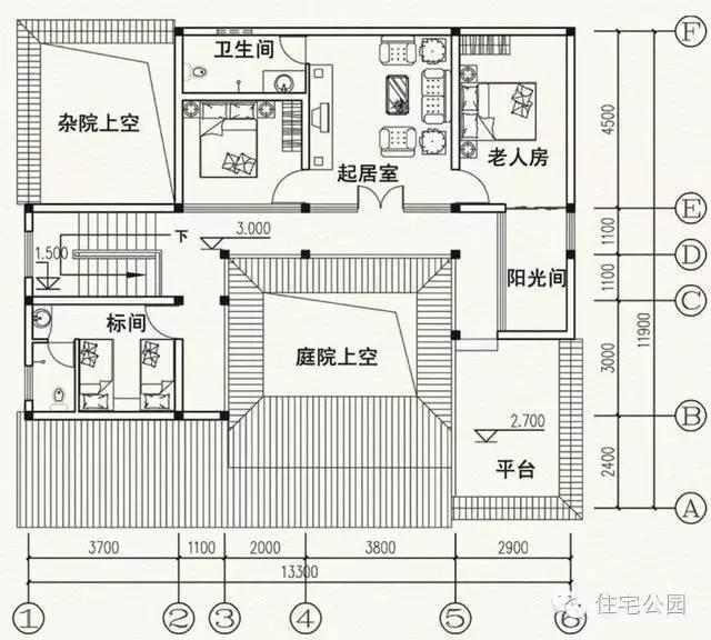 17米x12米房子设计图