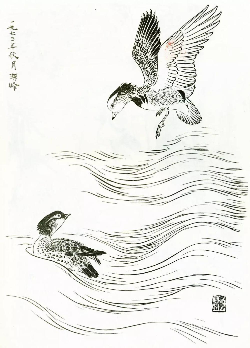 鸳鸯的画法(一)
