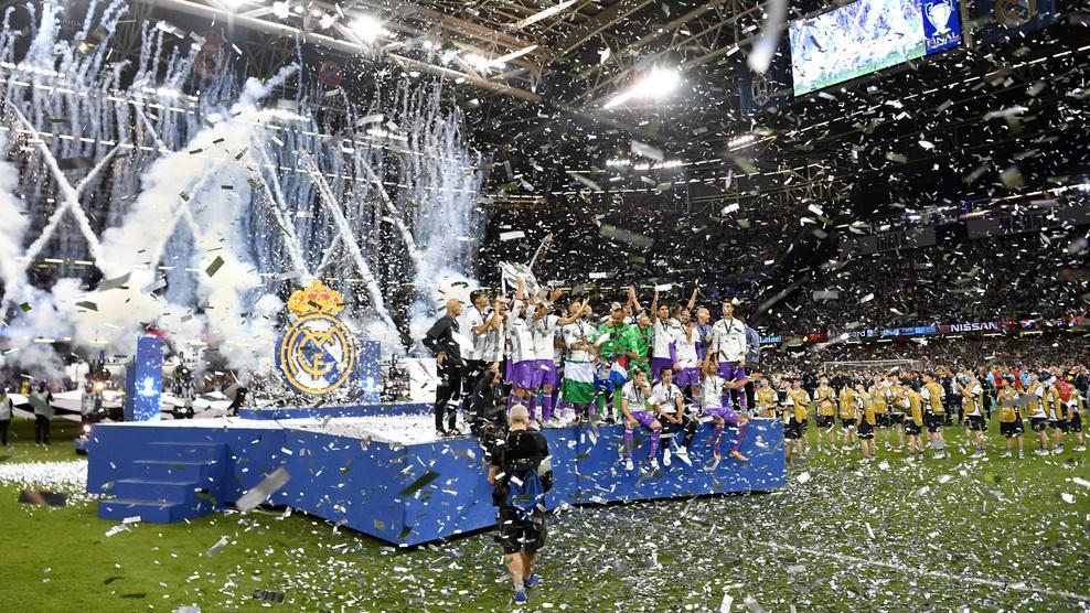 皇马创造历史蝉联欧冠冠军图片