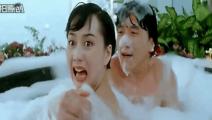 两个成龙跟利智洗澡处处闹笑话,利智真的好美
