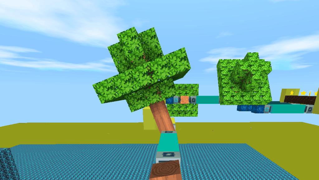 迷你世界 旋转大树怎么弄的呢