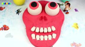 早教英语色彩启蒙: 手工diy 动感砂彩虹色眼球面具万圣节惊喜玩具图片