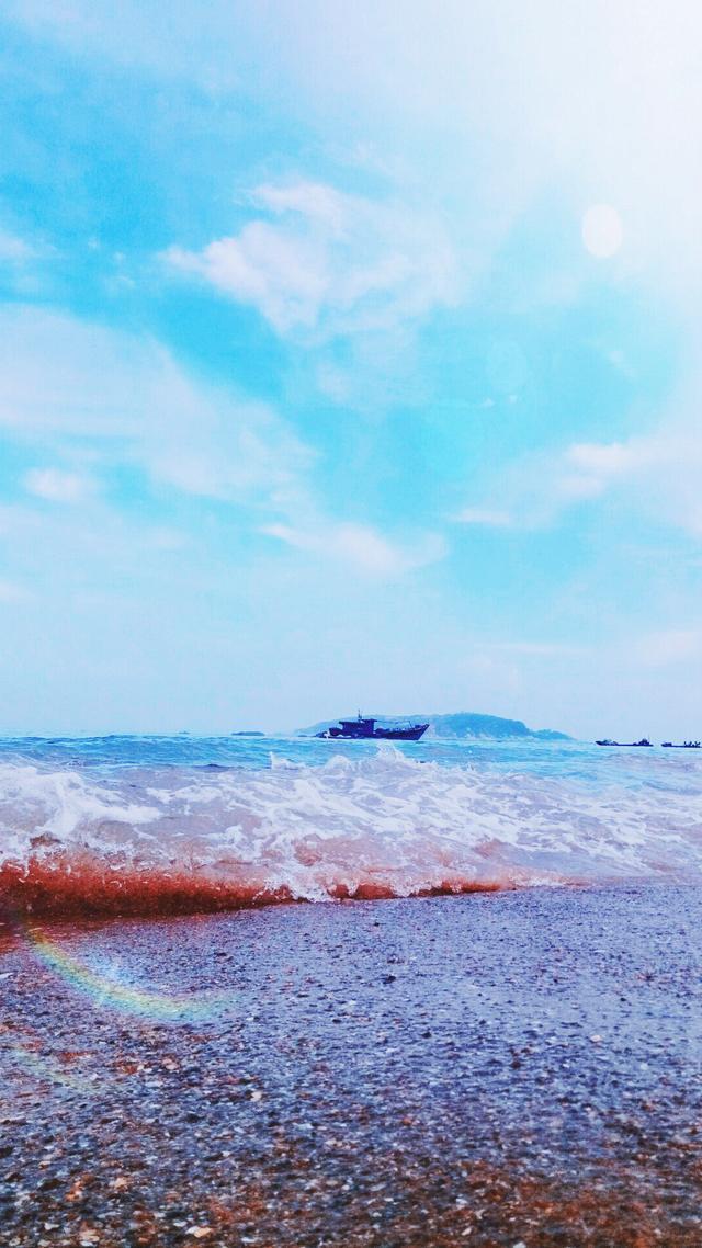 手机壁纸, 海水美, 沙滩美, 蓝天更美!