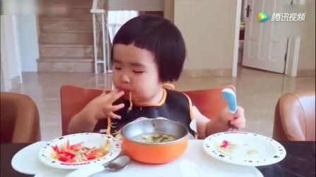 2岁小蛮殿下自觉吃光两菜一汤, 真的是碟碟清, 小吃货好喂养!