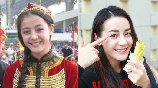 迪丽热巴素颜也很美,新疆妹子的五官优势好大,迪丽热巴笑起来好美