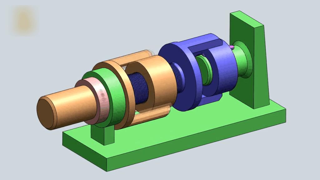 三连杆螺旋型结构,车削移动原理
