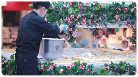 娇点十一位大师同台制作巨型蛋糕