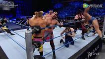 WWE美式摔跤娱乐 SD 7 26 多人上绳赛大混战 凯恩意外被小将淘汰出局
