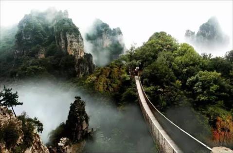 卦山 运城 五老峰 阳泉 乘坐景区直通车前往平定娘子关,固关,红岩岭