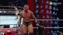 WWE美式摔跤娱乐 TLC 2013 塞纳VS吾王兰迪 差点要把擂台拆了