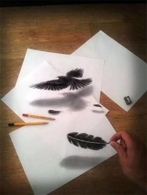 同样是用一支铅笔画的