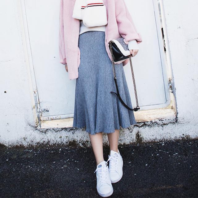 中长款半身裙_时尚中长款半身裙, 修饰腿部线条, 小细腿更迷人