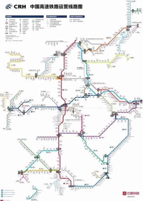 中国高铁运营线路图 图片来源:foxtao 同时,中国的城市网络是向下