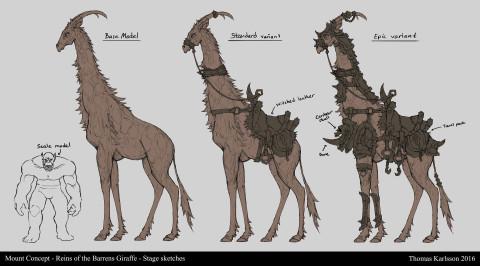 魔兽玩家脑洞设计 斑纹长颈鹿