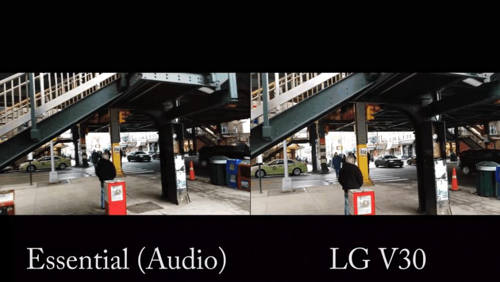 安卓创始人的Essential Phone对比LGv30 4k视频拍摄,效果咋样呢?