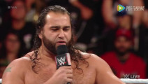 WWE美式摔跤娱乐 RAW 10 17 伦斯打断卢瑟夫秀家族 遭拉娜掌掴