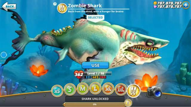 饥饿鲨 五大恐怖型(XXXL)鲨鱼欣赏,第一名是一个僵尸