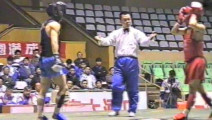 1995年全国武术散打锦标赛男子个人赛 01单元 003 男子52kg 红(—)VS 黑(前卫