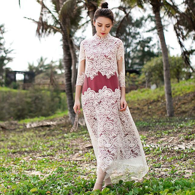 """姑娘不要穿韩版了, """"改良汉服""""才是17年的流行趋势, 优雅大方 1"""