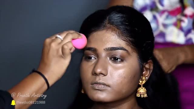 妆前妆后的印度新娘妆,对比之后你才知道会化妆丑女都能变女神